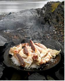 koking av kongekrabbe